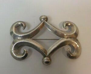Vintage Sterling Silver Sand Cast Brooch