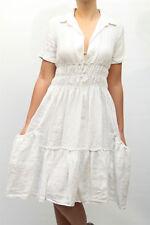 ABITO 165,00 € - 50% TWIN SET DONNA DRESS 100% Lino  1912732 BIANCO MIS.S PP !