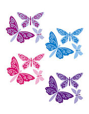 Flutterbyes Butterflies Wallies Stickers Removable Wall Decal Art Pink Butterfly
