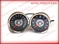 Smith Replica Speedometer Tachometer Pair 150 MPH Grey For BSA Norton Triumph