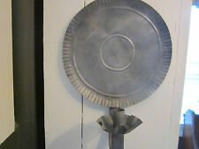 Antique? metal/tin wall candle sconce. Crimped reflector.