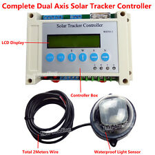 Solar Panel Tracking Complete Dual Axis Tracker Linear Actuator LCD Controller