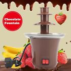 3Tier S/S Steel Electric Chocolate Warmer Dip Fountain Party Fondue Melting  Pot