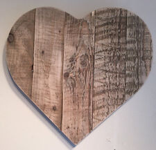 Rustic Reclaimed Wooden Vintage Style Heart Sign/ Wall Plaque - Large