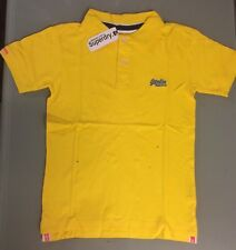 SUPERDRY Yellow Polo Shirt Mens Size S Fitted T-Shirt Top - New With Tags