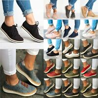 Women Casual Flat Comfort Loafers Brogues Plimsoll Sneakers Trainers Shoes Pumps