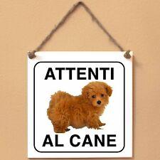 Maltipoo 3 Attenti al cane Targa cane cartello ceramic tiles