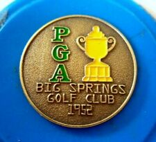 "1952 US PGA (JIM TURNESA'S ONLY MAJORS TITLE) 1"" METAL COIN GOLF  BALL MARKER"
