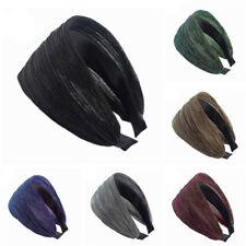 Elegant Women/'s Winter Warm Headband Mink Wavy Hairband Hair Hoop Accessories