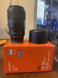 Sony 90mm f2.8 macro Pristine Condition