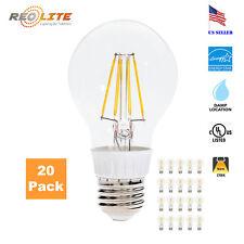 New 60W Equivalent A19 Bulb 7W  Warm White LED Filament Light Bulb 2800K 20 Pack