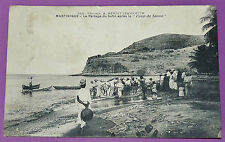 CPA 1930 MARTINIQUE ANTILLES PECHE COUP DE SENNE PARTAGE BUTIN COLONIES TIMBREE