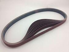 """1"""" x 42"""" Sanding Belts, 10 pack, 100 grit, AL Oxide - Made in USA"""