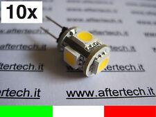 10 pz G4 LAMPADINA FARETTO 5 LED 12v BIANCO CALDO v1