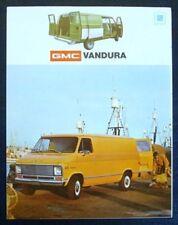 GMC VANDURA USA Van Sales Brochure 1973 #ADV 74-6 (8-73)