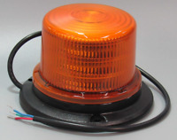 "4"" Cylinder Amber 36 LED Beacon Warning Dome Roof Emergency Strobe Revolving"