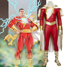 HZYM Captain Marvel Shazam Cosplay Costume Leather Outfit