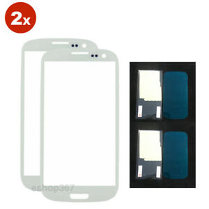 2pcs Replacement Screen Glass Lens Samsung Galaxy Note 2 N7100 White