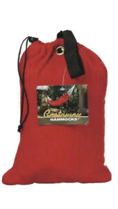Castaway Red Cotton  Travel Camping Hammock