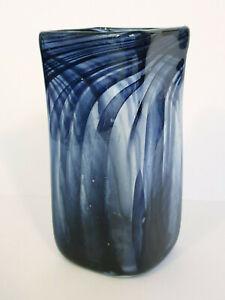 AUSTRALIAN SIGNED STUDIO ART GLASS VASE BY JOHN WALSH