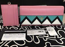 ~ Prada Greca Saffiano Flap Continental Organizer Wallet w/ ID Card Case. NEW