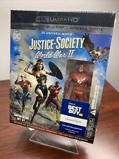 Justice Society: World War II (4K UHD+Blu-ray+Digital+Flash Figurine) Sealed