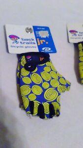 Gloves Short Finger Bike Scooter Unisex Small Jr Kids  ages 3-7 Back Trails