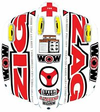 New listing WOW World of Watersports Zig Zag Inflatable Towable 2 P Steerable NIB Tow Tube