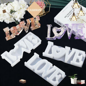 LOVE Sign Resin Casting Mold Silicone Jewelry Making Epoxy Mould Craft Tool DIY
