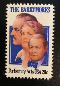 Scott # 2012 Performing Arts Series - The Barrymores 20 Cent Stamp- MNH/OG fob