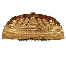 Anthony David Gold & Bronze Crystal Evening Bag with Swarovski Crystals