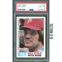 Pete Rose PSA 8 NM - Mint 1982 Topps AS #337 Reds HOF * Hall Of Fame * GOAT ****