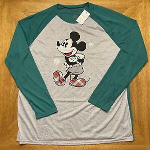 Disney Mickey Mouse Sleep Lounge Jammies Shirt Christmas Men's XL, NWT