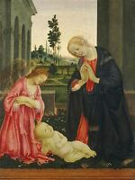 FILIPPINO LIPPI ITALIAN ADORATION CHILD OLD ART PAINTING POSTER PRINT BB5325A