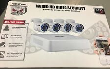 New! Night Owl Security WMBF-445-720 4 Channel 720p HD Video System