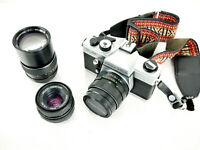 Camera Praktica TL 5B Lens Helios 44M 4 2/58 and 1 2.8 f=135 mm Pentacon 1.8/50
