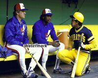 1984 MLB Pete Rose Tim Raines Tony Pena Montreal Expos Dugout 8 X 10 Photo Pic