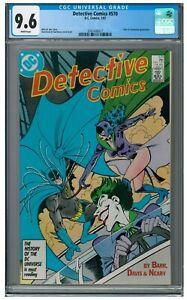 Detective Comics #570 (1987) Classic Joker & Catwoman Cover CGC 9.6 AA110