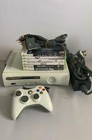 Microsoft Xbox 360 20GB Console Bundle - 6 Games - Controller - C21