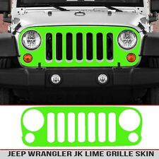 Jeep Grille Skin Lime Green decal die cut Fit JK Wrangler 07-18 Install kit