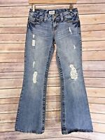 Aeropostale Hailey Skinny Flare Women's Distressed Jeans Size 1/2 Short