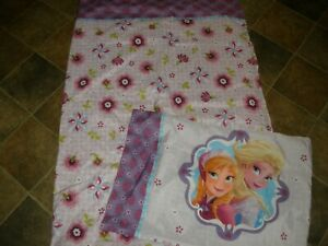 Anna & Elsa Frozen Twin Flat Sheet & Pillowcase EUC