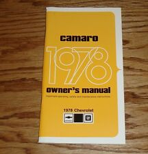 1978 Chevrolet Camaro Owners Operators Manual 78 Chevy