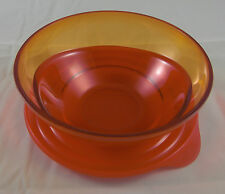 Tupperware C 120 Eleganzia 600 ml Schüssel Rot Orange Transparent Neu OVP