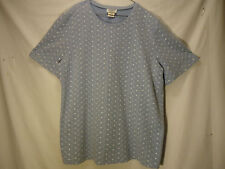 Womens 3X Teddi Knit Light Blue with White Embroidered Flowers and Eyelets