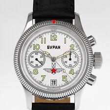 POLJOT BURAN 3133/6501576 Fliegeruhr Handaufzug mechanische russiche Uhr NOS