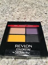 REVLON Colorstay 16 hour Eyeshadow EXOTIC Quad New SEALED