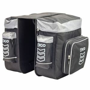 EIGO Hopper Throwover Motorcycle Motorbike Panniers (pair) with Zip-Off Pouch