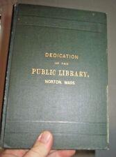 Dedication of the Norton Public Library 1888 original 1st