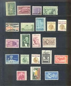 US 1958 Commemoratives Year Set with 21 Stamps MNH